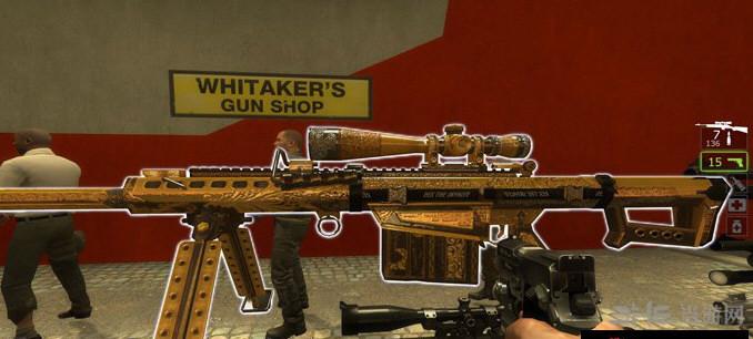 求生之路2黄金巴雷特M82狙击枪MOD截图2