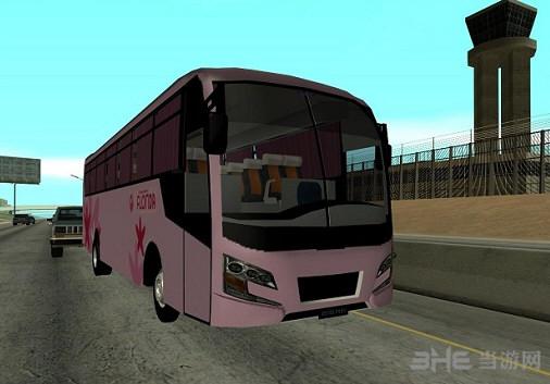 侠盗猎车手圣安地列斯粉色公交车MOD截图0