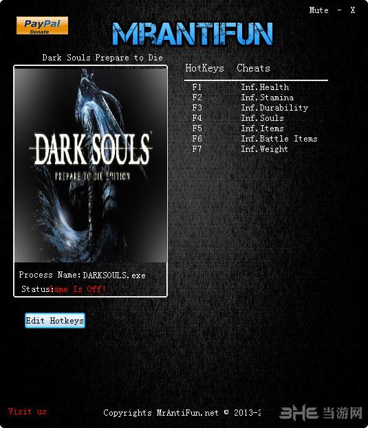 黑暗之魂受死版六项修改器截图0