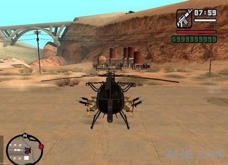 侠盗猎车手圣安地列斯小鸟直升机MOD截图0