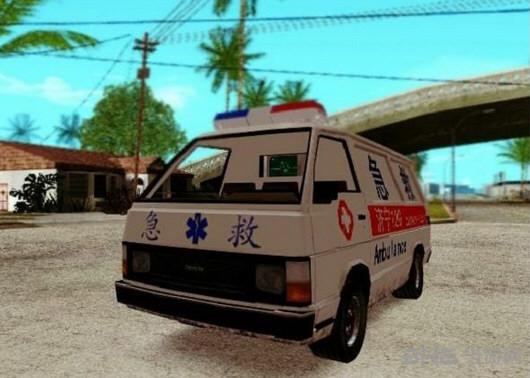 侠盗猎车手圣安地列斯急救车MOD截图0