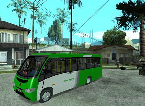 侠盗猎车手圣安地列斯迷你精致公交车MOD截图0