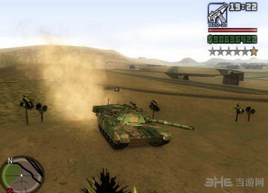 侠盗猎车手圣安地列斯99式坦克MOD截图0