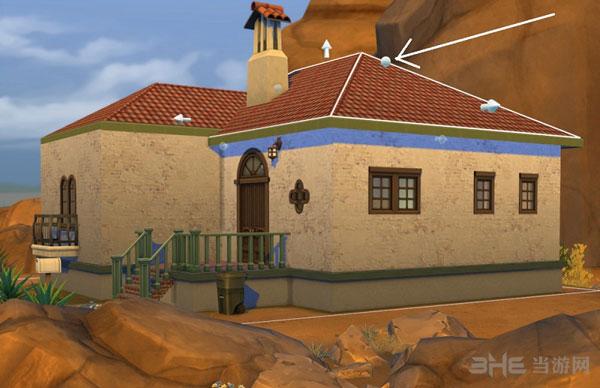 模拟人生4弧形屋顶建造方法1