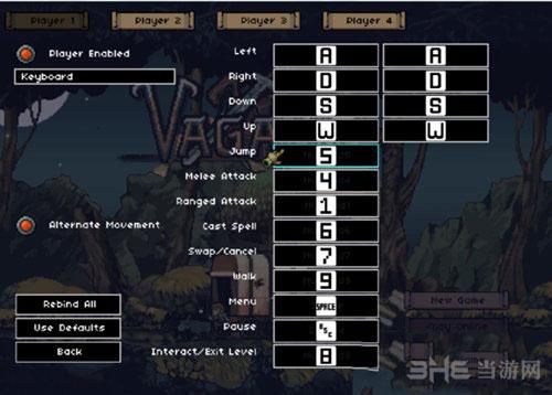 流浪Vagante游戏各按键代表什么功能1