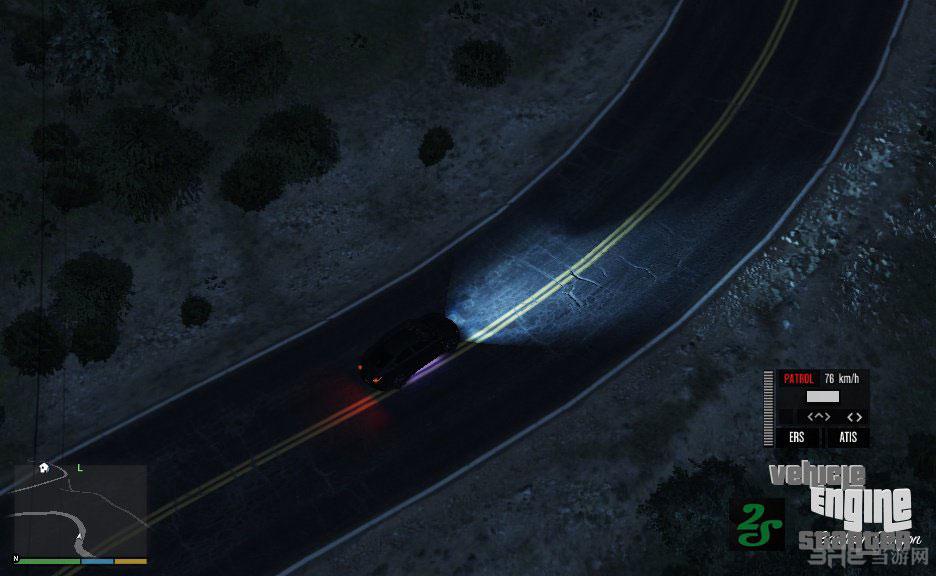 侠盗猎车手5汽车发动机启动-自主驱动功能MOD截图1