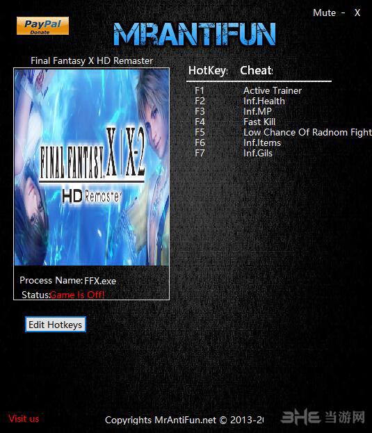 最终幻想10/10-2高清重制版八项修改器截图0