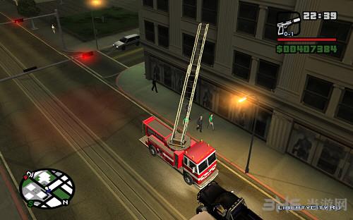 侠盗猎车手圣安地列斯消防车MOD截图0
