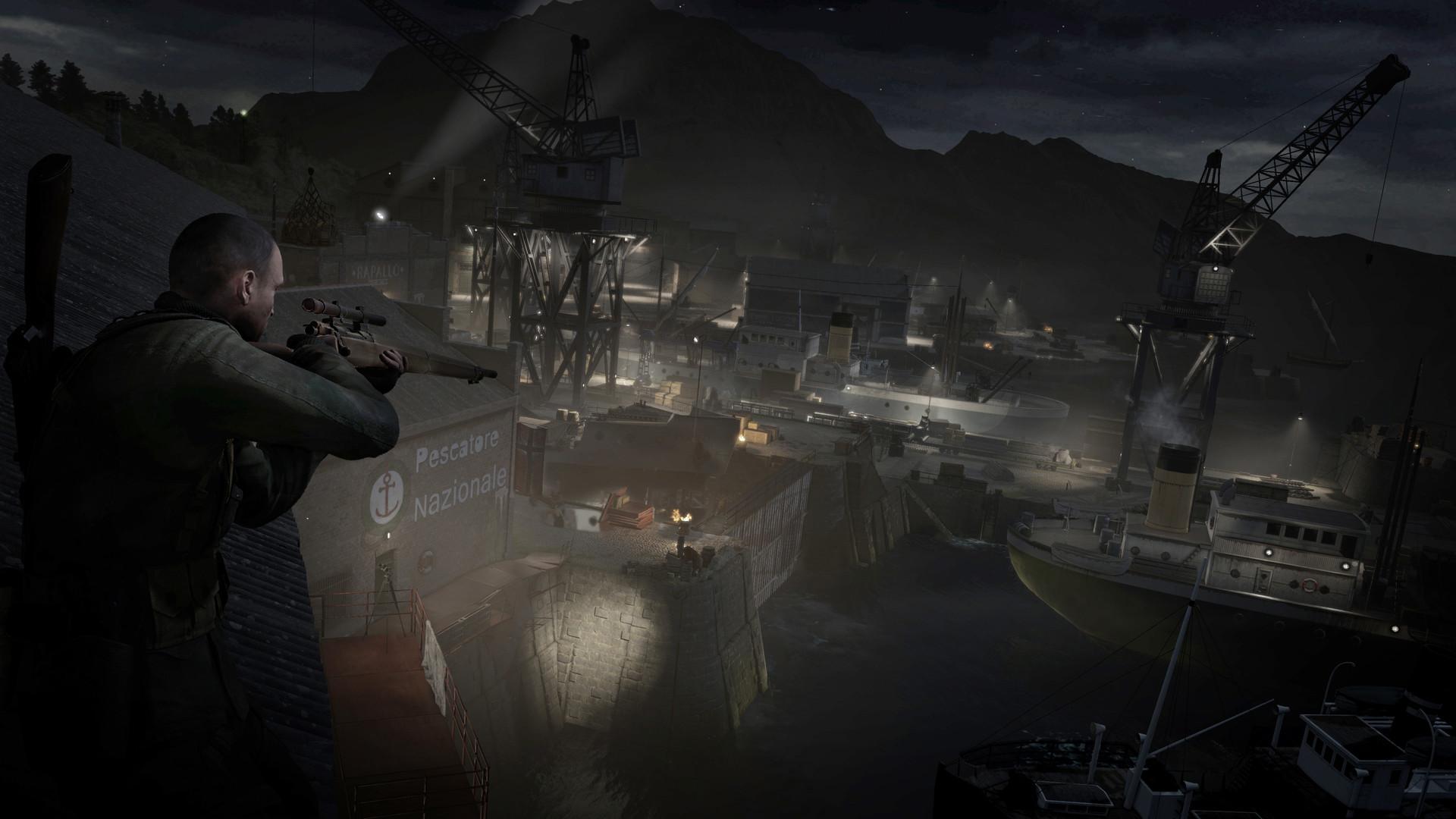 狙击精英4游戏截图欣赏 在意大利小镇中潜