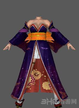 死或生5:最后一战ayane紫色和服MOD截图0