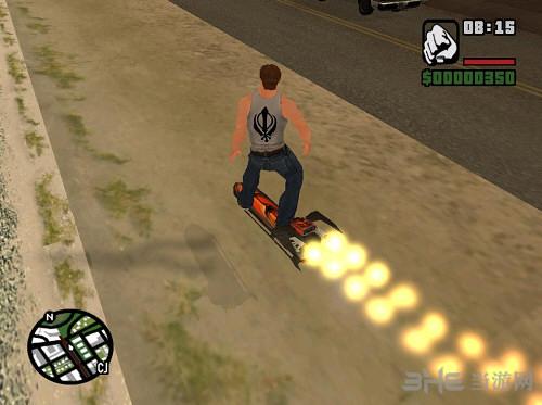 侠盗猎车手圣安地列斯火焰喷射滑板MOD截图0