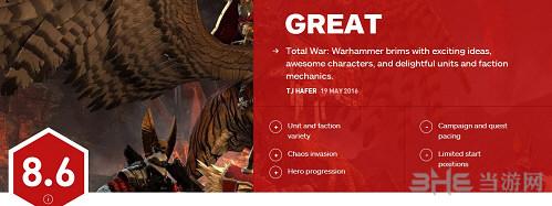战锤全面战争IGN评分