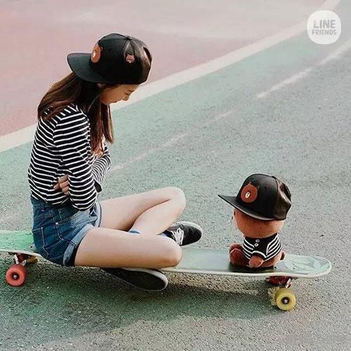 韩国滑板女神私房照2