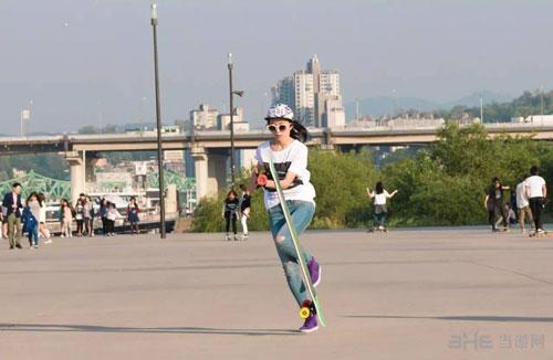 韩国滑板女神私房照1