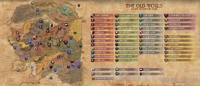 全面战争战锤种族分布地图1