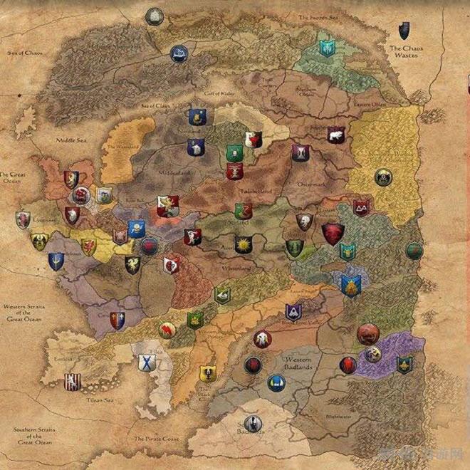 全面战争战锤种族分布地图2