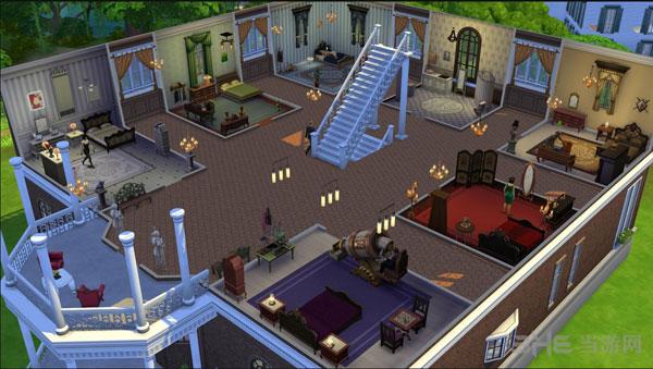 模拟人生4半地下现代别墅建造教程 下沉式别墅怎么造