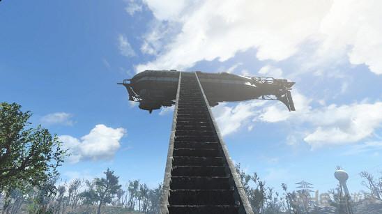 辐射4可制造的飞艇模型MOD截图1
