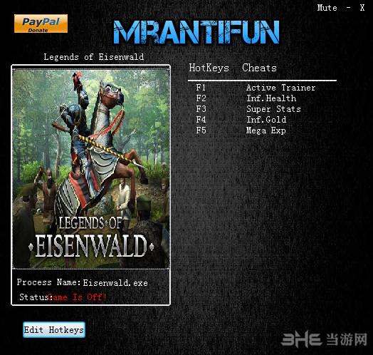 艾森沃德传奇四项修改器MrAntiFun版截图0