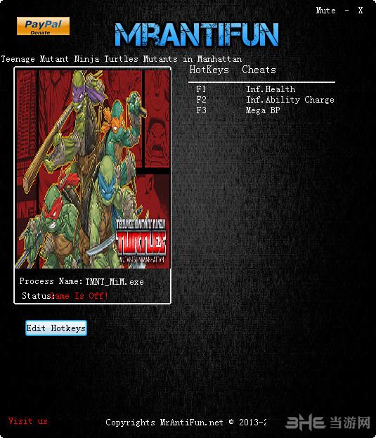 忍者神龟:曼哈顿突变三项修改器截图0