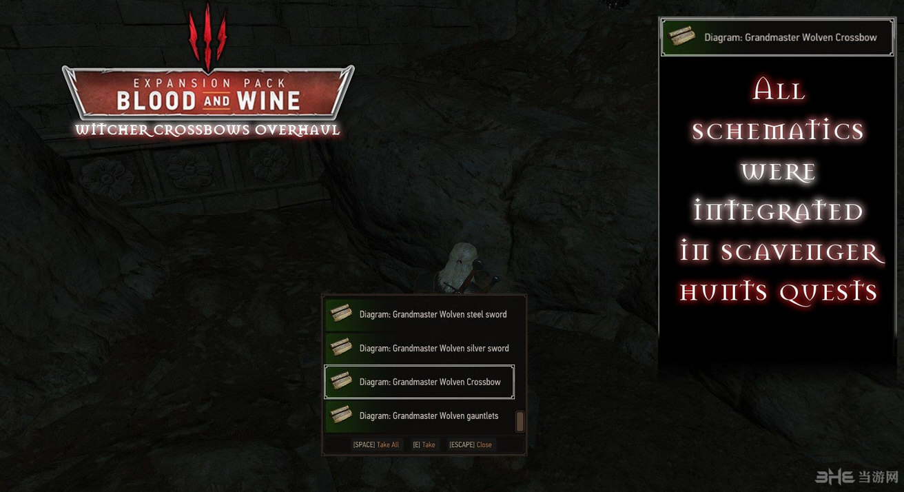 巫师3:狂猎新增所有派系师匠级十字弓MOD截图0