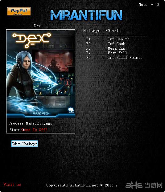 Dex增强版v5.2.1.0五项修改器截图0