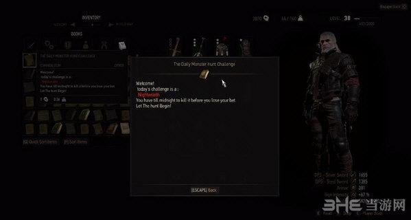 巫师3:狂猎每日猎杀任务赚钱练技术MOD截图2