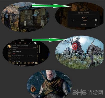 巫师3:狂猎每日猎杀任务赚钱练技术MOD截图0