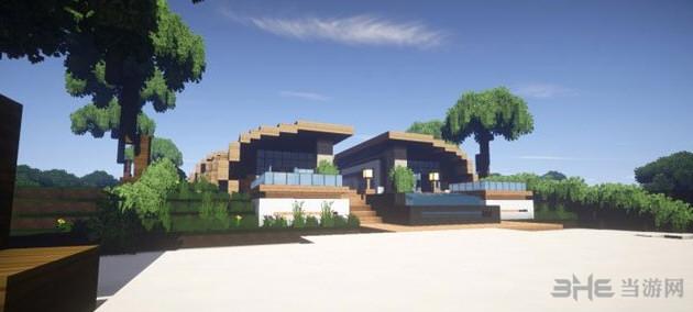 我的世界超华丽的现代海滨别墅截图0