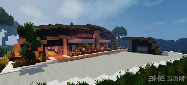 我的世界超华丽的现代海滨别墅截图3