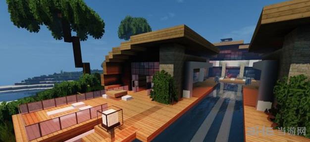 我的世界超华丽的现代海滨别墅截图2