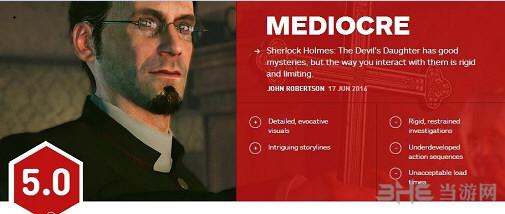 福尔摩斯恶魔之女IGN评分