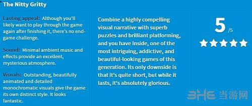 Inside游戏评分1
