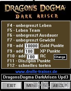 龙之信条:黑暗觉者UP3九项修改器截图0