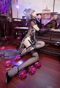 金丝雀版洛天依COS图赏 镂空网袜配古装异常诱人