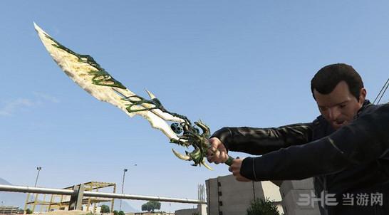 侠盗猎车手5仿使命召唤黑色行动3的恶灵之影剑武器MOD截图0