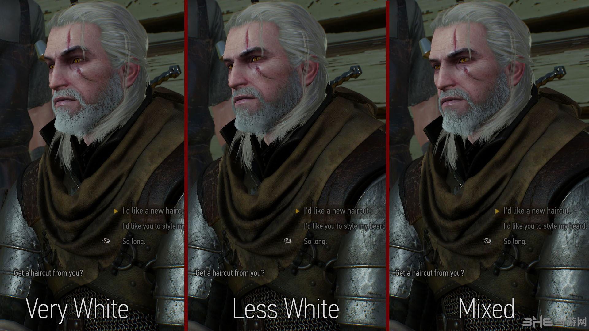 巫师3:狂猎主角杰洛特改变头发颜色MOD截图1