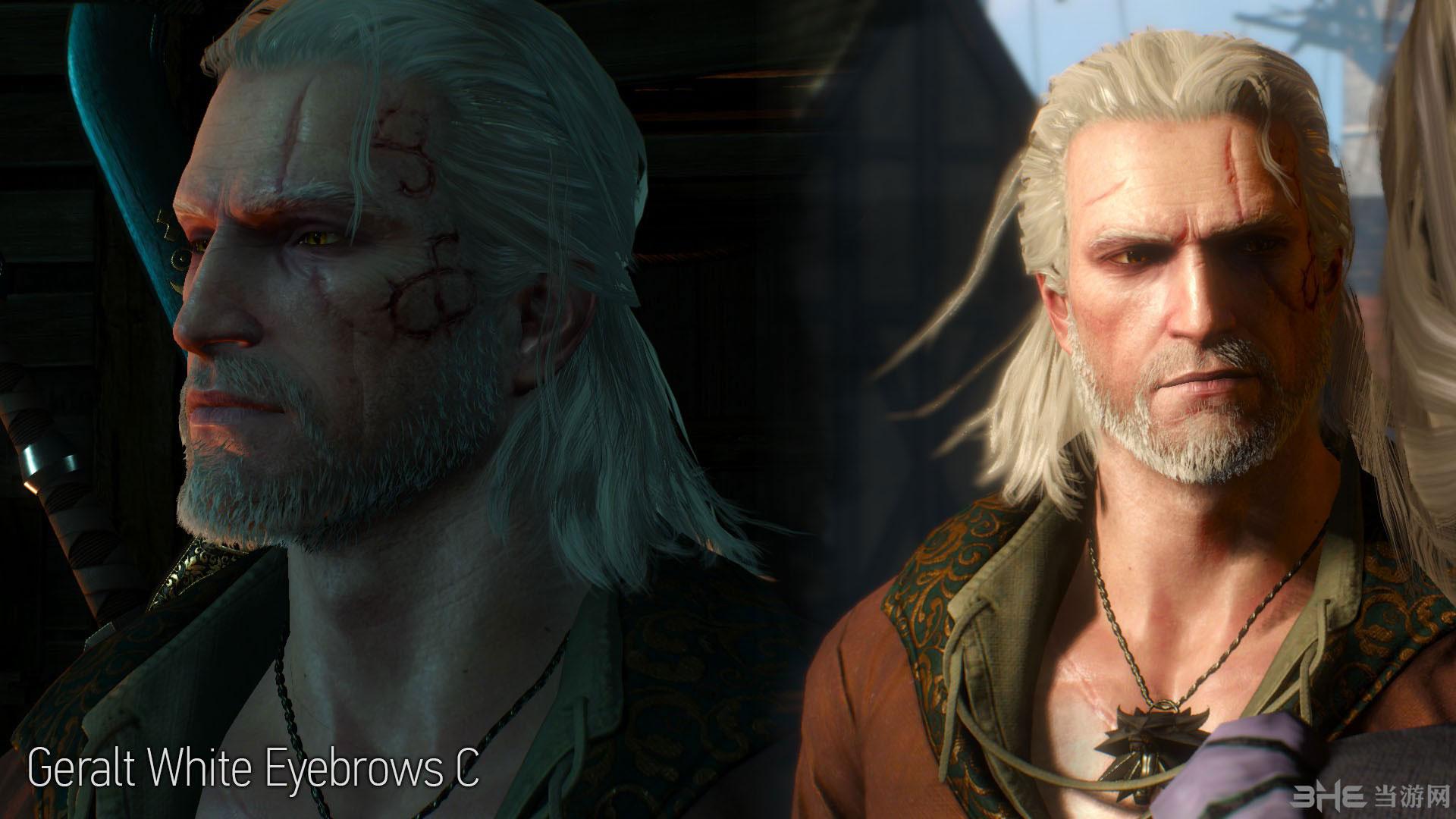 巫师3:狂猎主角杰洛特改变头发颜色MOD截图0