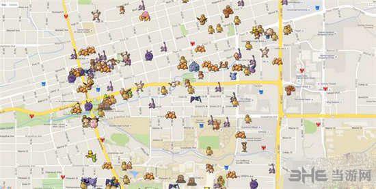 精灵宝可梦GO旧金山分布图