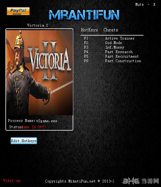 维多利亚2五项修改器截图0