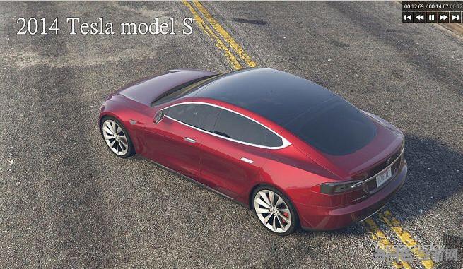 侠盗猎车手5特斯拉2014 Tesla model MOD截图2