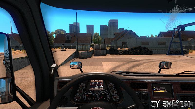 美国卡车模拟彼得579新的仪表盘MOD截图0