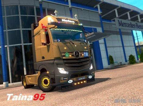 欧洲卡车模拟2奔驰Actros MP4 MOD截图0