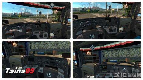 欧洲卡车模拟2奔驰Actros MP4 MOD截图2