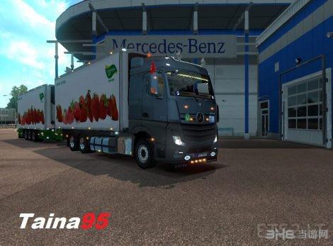 欧洲卡车模拟2奔驰Actros MP4 MOD截图1