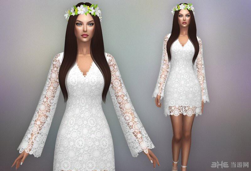 模拟人生4波西米亚风格婚纱礼服MOD截图0
