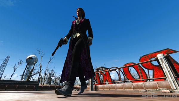辐射4女式酷炫猎人套装服装MOD截图0