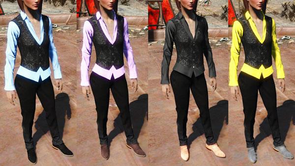 辐射4女式酷炫猎人套装服装MOD截图3