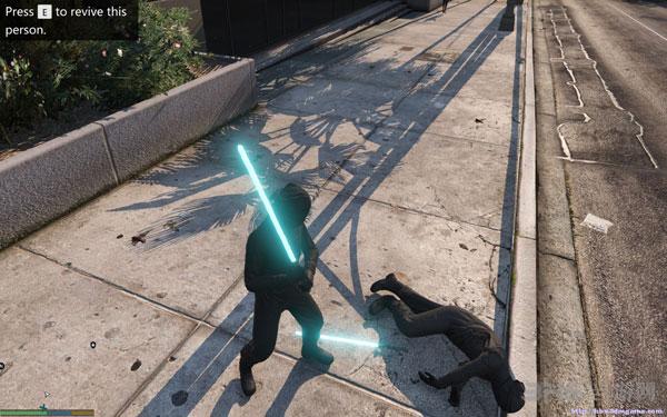 侠盗猎车手5星球大战激光剑MOD截图0