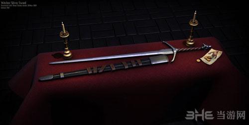 上古卷轴5天际猎魔士的秘银长剑MOD截图0